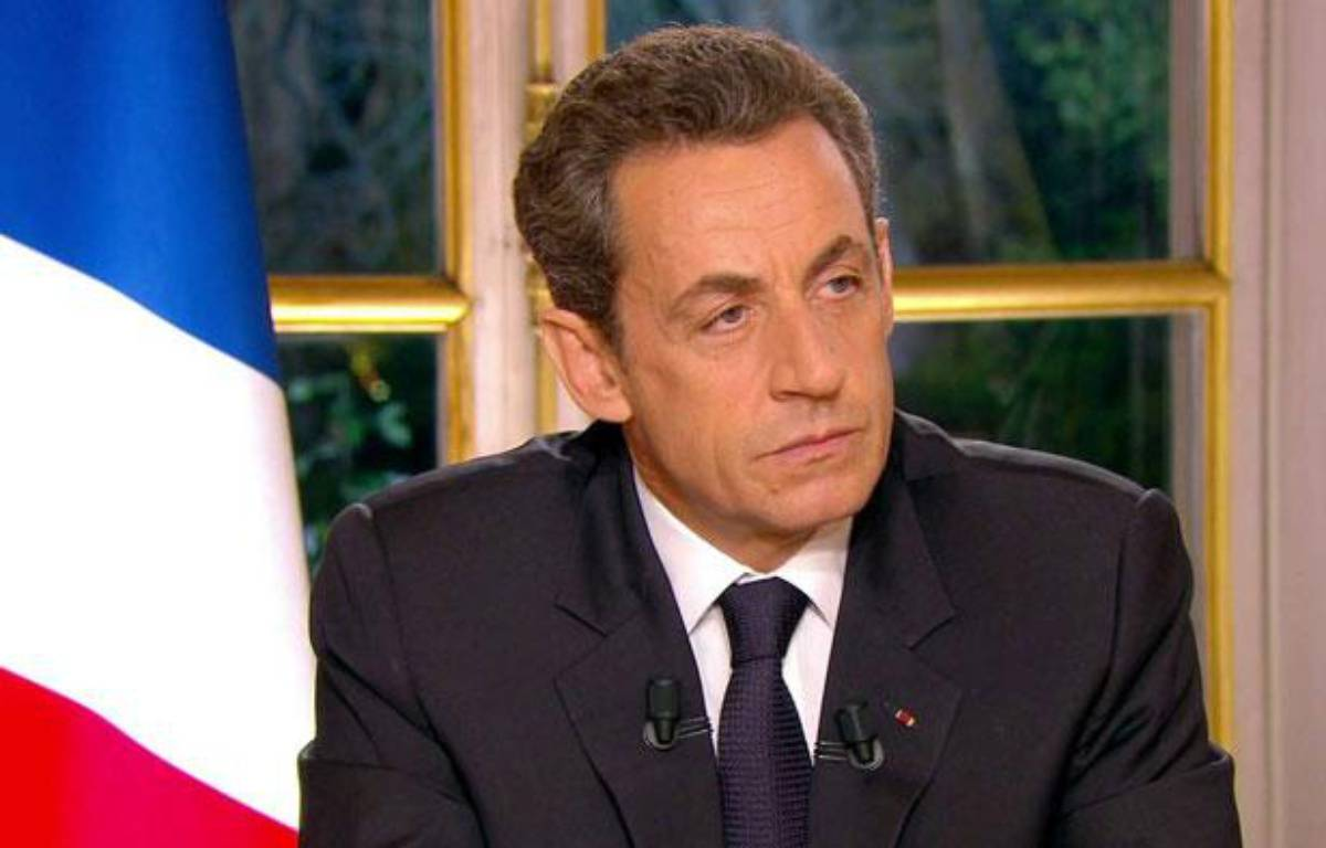 Nicolas Sarkozy lors de son interview télévisée concernant le dernier sommet européen, le 27 octobre 2011. – SIPA