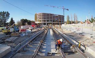 Le futur terminus de la ligne 2 du tramway de Nice