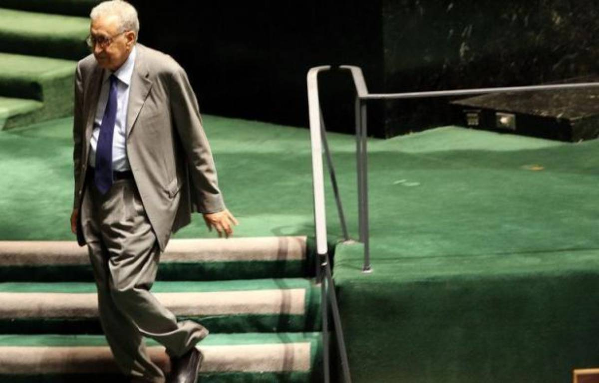 L'émissaire international pour la Syrie Lakhdar Brahimi aborde sa mission avec peu d'espoir de trouver une solution pacifique à un conflit de plus en plus meurtrier, face à l'absence de consensus international, estiment des analystes. – Spencer Platt afp.com