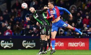 Marouane Chamakh lors d'un match disputé avec Crystal Palace le 30 janvier 2016 à Londres.