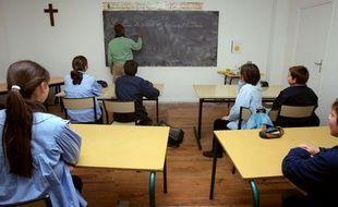Des élèves de sixième du collège catholique Jean Bosco à Rambouillet.