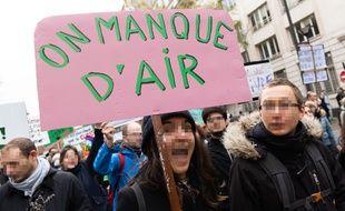 Illustration de la marche pour le climat en décembre 2018, à Paris.