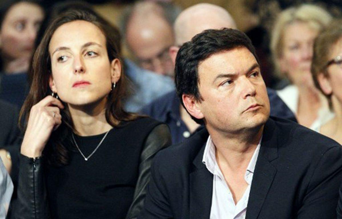 Les économistes Julia Cagé et Thomas Piketty, le 3 février 2016 à Paris. – MATTHIEU ALEXANDRE / AFP