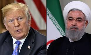 Donald Trump et le président iranien Hassan Rohani.