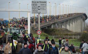 Près de 15.000 personnes ont manifesté samedi sur le périphérique nantais.