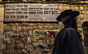 L'homme est établi dans un quartier ultra-orthodoxe de Jérusalem (illustration).