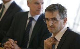 Le directeur des ressources humaines d'Air France, Xavier Broseta, à Paris le 6 octobre 2015