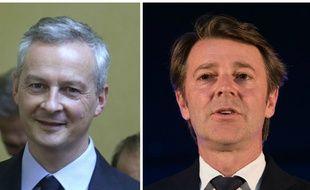 Collage Bruno Le Maire et François Baroin, élus Les Républicains.