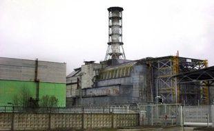 Le réacteur numéro 4 de la centrale de Tchernobyl, en Ukraine, 25 ans après la catastrophe nucléaire, le 10 avril 2011.
