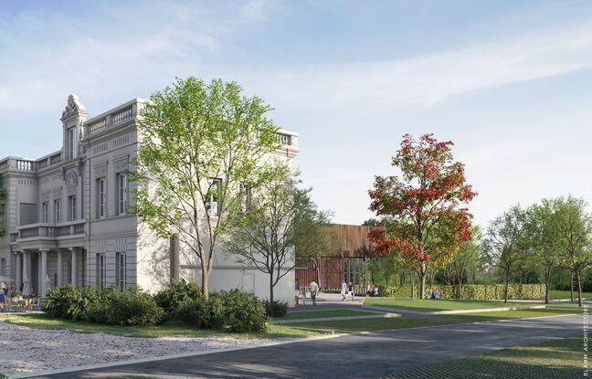 La Chartreuse du XVIII siècle va être entièrement réhabilitée et sera le bâtiment d'accueil de la piscine.