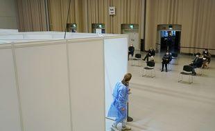 Un centre de vaccination contre le Covid-19 en Allemagne (image d'illustration).