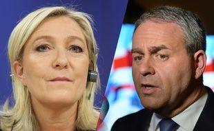 Montage de Marine Le Pen et Xavier Bertrand, candidats aux élections régionales de décembre 2015 en Nord-Pas-de-Calais-Picardie