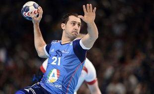 L'ailier de l'équipe de France de handball Michaël Guigou, le 5 janvier 2014 à Bercy.