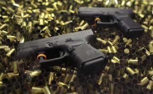 Deux pistolets Glock 26 lors présentés à un salon consacré aux armes à feu à Las Vegas, en 2011.