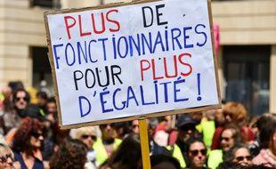 Les fonctionnaires ont manifesté contre le projet de loi de réforme de leur statut, le 9 mai 2019 à Montpellier.
