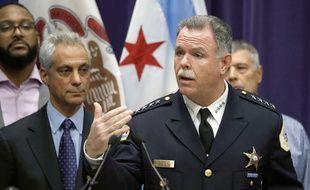 L'ancien chef de la police de Chicago, Garry McCarthy, lors d'une conférence de presse à Chicago, le 24 novembre 2015.