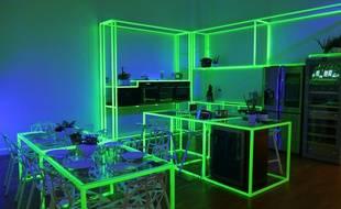 La cuisine du futur avec ses allures de discothèque.