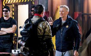 Denis Brogniart sur le tournage de « District Z »