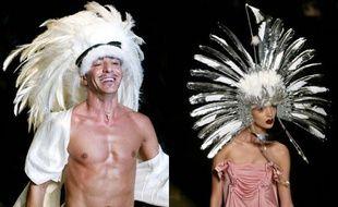 Sous son influence, la marque Dior devient le symbole du bling-bling.  Automne hiver 2002/03 haute couture.