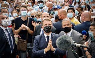 Emmanuel Macron, le 16 juillet au sanctuaire de Lourdes.