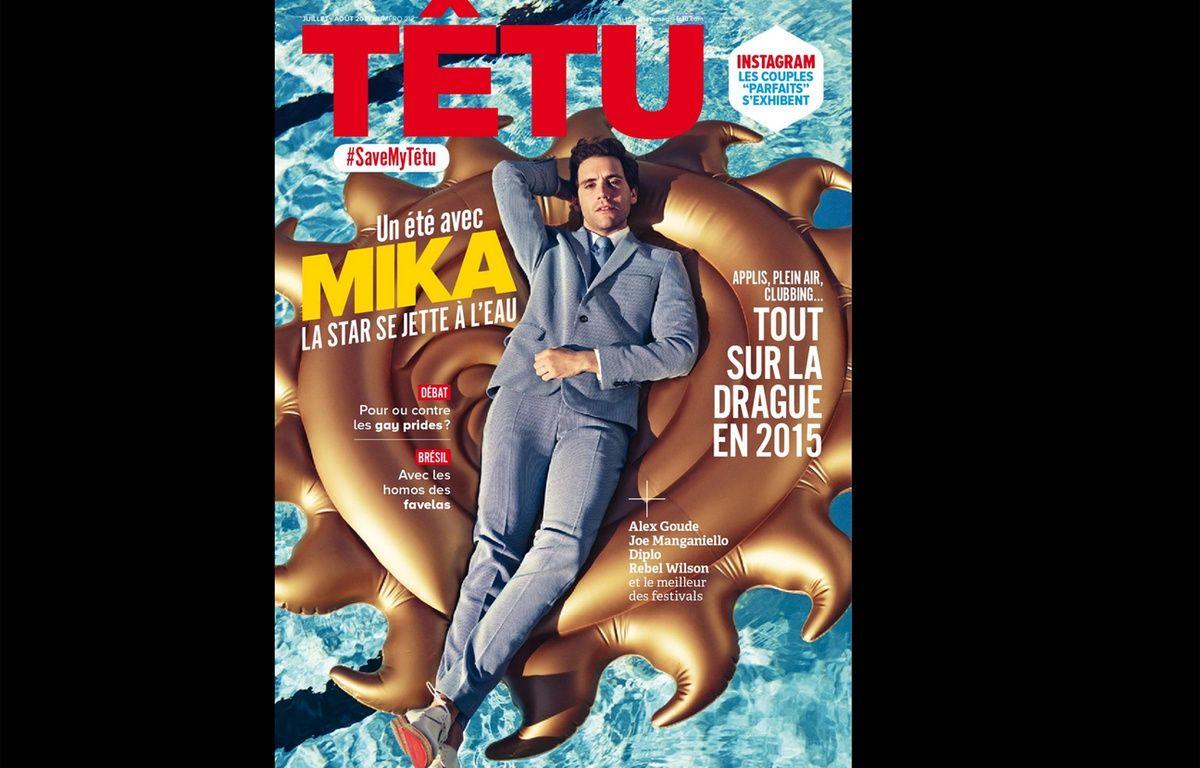 Le numéro de juillet-août 2015 de Têtu. – Capture d'écran