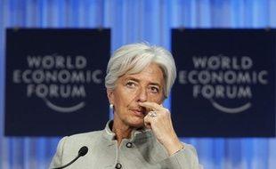 La ministre de l'Economie française Christine Lagarde à Davos le 29 janvier 2011.