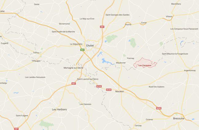 Le village des Cerqueux se situe au nord-est de Cholet.