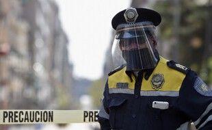 Illustration d'un policier au Mexique.