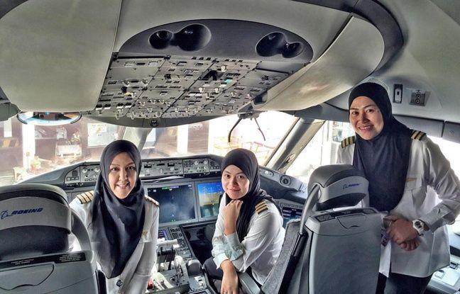 L'équipage de l'avion est entièrement féminin.