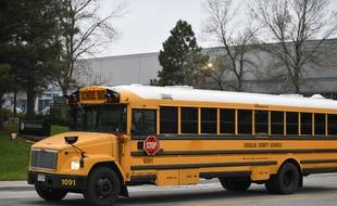 Un bus de l'école STEM de la ville de Highlands Ranch, aux Etats-Unis, le 8 mai 2019.