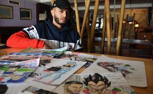 Samir dessine sa Paillade sous les traits des personnages de Dragon Ball Z.