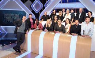 Laurent Ruquier et les chroniqueurs de «L'émission pour tous», talk-show diffusé sur France 2, à partir du 20 janvier 2013.