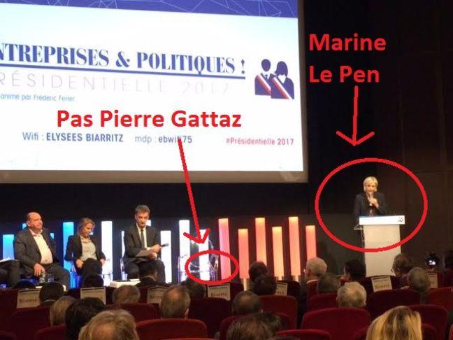 Marine Le Pen lors de son