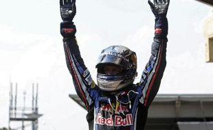 Le pilote allemand Sebastian Vettel, lors de sa victoire au Brésil, le 7 novembre 2010.