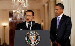 Hosni Moubarak et Barack Obama à la Maison Blanche, le 1er septembre 2010.