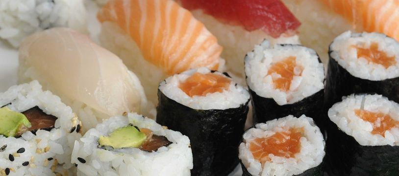 Un plateau de sushis (illustration).