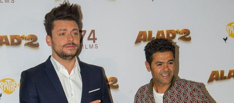 Kev Adams et Jamel Debbouze à l'avant-première d'«Alad2» à Paris le 21 septembre 2018.