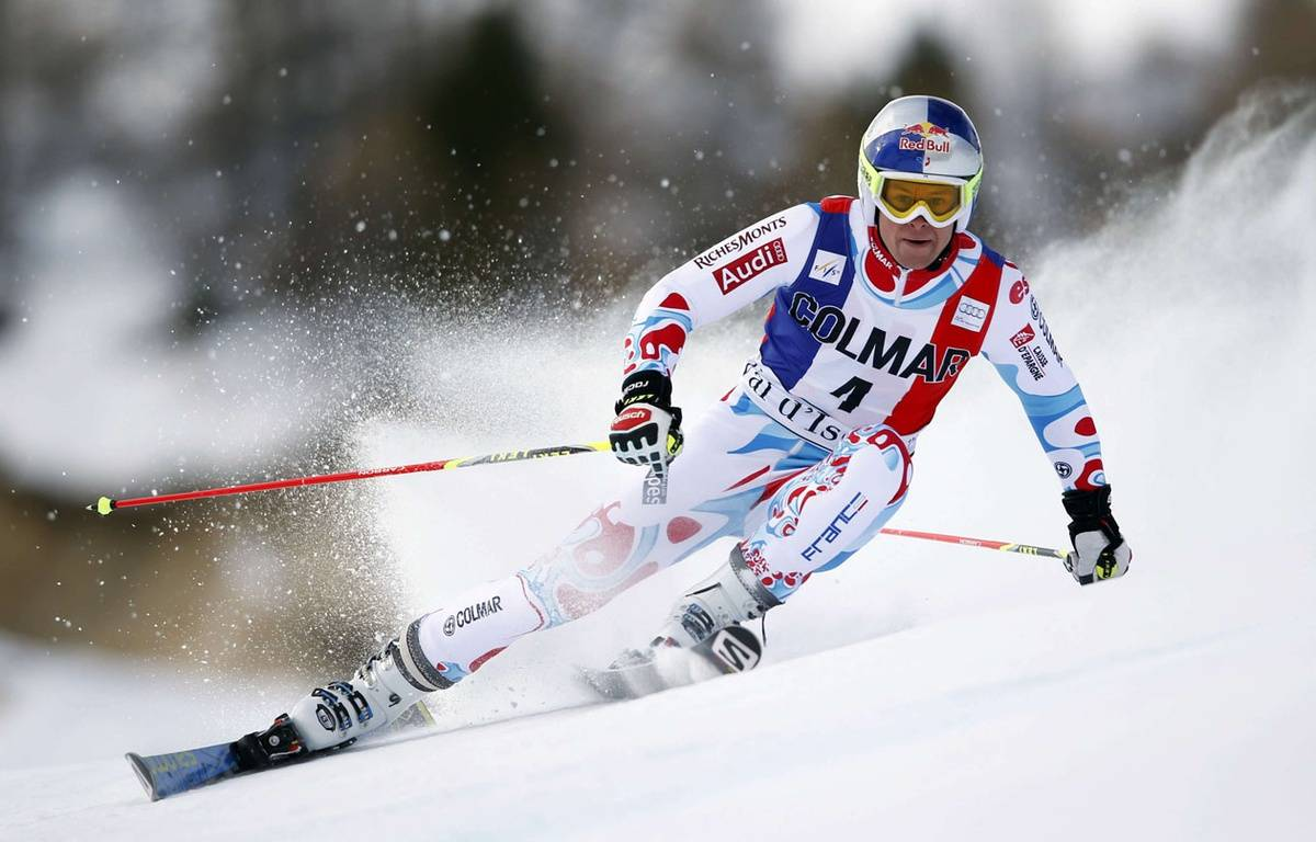 Alexis Pinturault, sur les pentes de Val d'Isère. – Shinichiro Tanaka/AP/SIPA