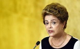 La présidente brésilienne Dilma Rousseff, le 7 décembre 2015 à Brasilia