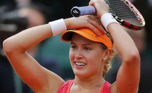Eugénie Bouchard à Roland-Garros le 3 juin 2014.