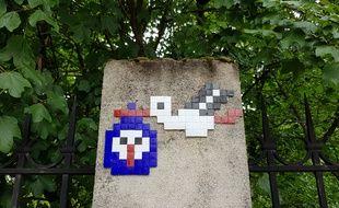 Strasbourg: Les cigognes en pixel art envahissent les rues
