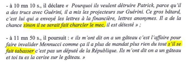 Un autre extrait de procès-verbal, envoyé aux médias par P. Mennucci.