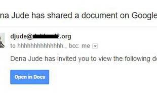 Capture d'écran d'un exemple d'e-mails envoyés