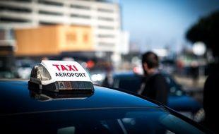 Illustration manifestation de taxis à l'aéroport de Toulouse-Blaganc.