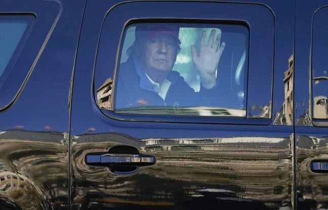 648x415 donald trump rapidement salue supporteurs supportrices train manifester samedi washington depuis voiture