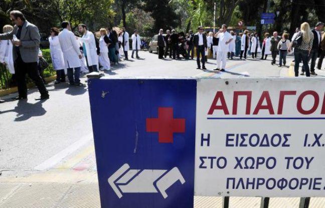 Une mobilisation des professionnels de la santé en Grèce.