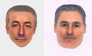 Deux portraits-robots fournis le 14 octobre 2013 d'un homme que la police britannique souhaite interroger dans le cadre de la disparition en 2007 de la petite Madeleine McCann