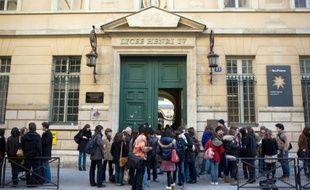 Illustration datant du 16 février 2016, du lycée Henri IV à Paris, l'un des établissements visés par des appels menaçants