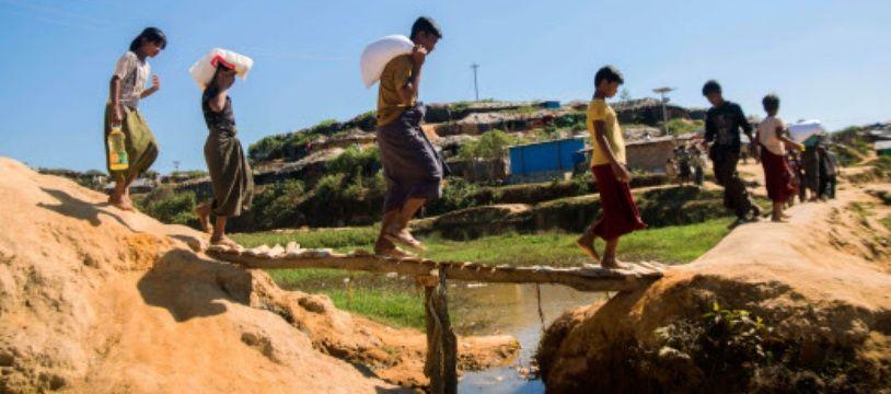 Un camp de réfugiés à Kutupalong, au Bangladesh