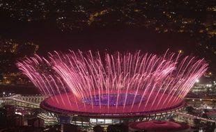 Le Maracana lors de la cérémonie d'ouverture des JO de Rio le 5 août 2016.